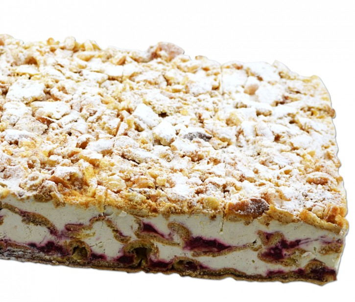 30134<br>Flocken-Sahneschnitte · 24 Stücke/Eckige Torte