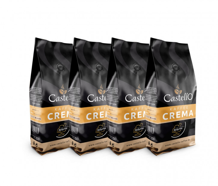 60002<br>Café Crema Castello, Bohne 9 x 1.000 g